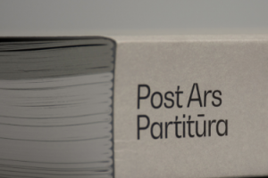 Post Ars partitūra book printed by KOPA printing